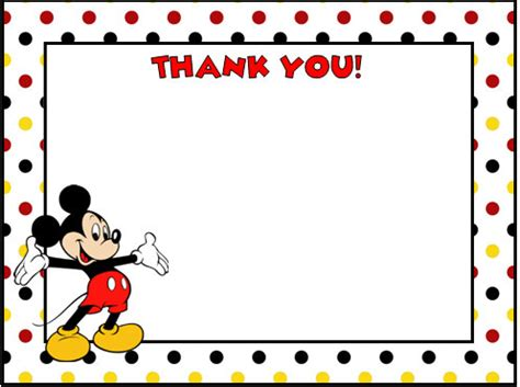 mickey mouse thank you cards by lulupaperprints on etsy