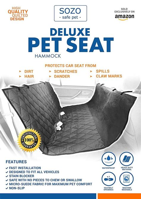 Joe S Seat Cover Car Wash Inc Deluxe Pet Car Seat Cover Now 73 From