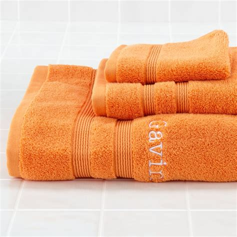 orange towels bathroom kids towels washcloths the land of nod