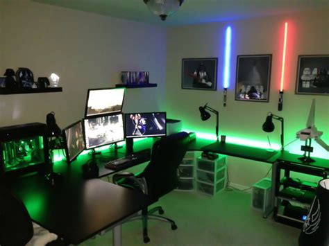 25 incredible video gaming room designs home design and cool video game room with star wars theme