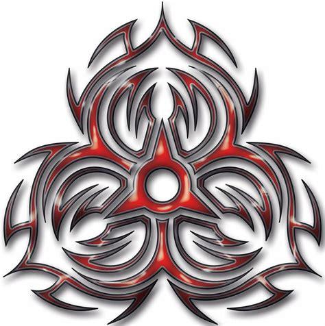tribal biohazard tattoo designs collection of 25 best tribal biohazard symbol photo