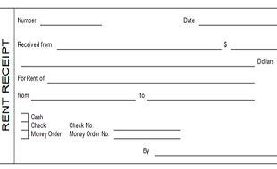 rent receipt template with logo receipt template
