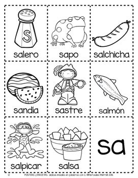 imagenes que empiecen con la letra sa posters y tarjetas de s 237 labas iniciales en palabras con s