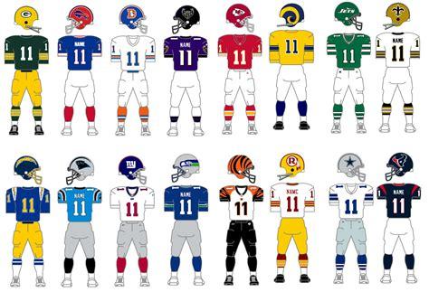 bowl jersey colors nfl colors collage
