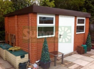 Block Built Shed Cost by Brick Pent Concrete Shed 631