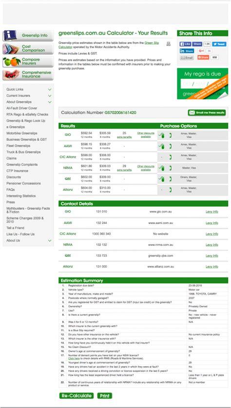 Ctp Greenslip Comparison by 호주 자동차 책임보험 그린슬립 Green Slip Ctp 가입안내 네이버 블로그