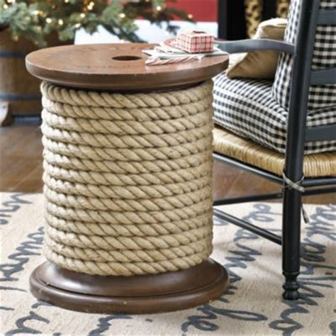 Spool Side Table Spool Side Table Nautical Coastal Style Lakes Storage And Design