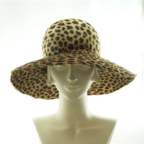 animal print wide brim hat for floppy hat the