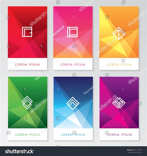 abstract interface pattern abstract colorful user interface template set stock vector