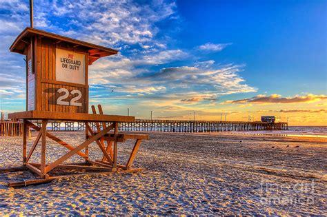 Beach Decor Home by Newport Beach Pier Wintertime Photograph By Jim Carrell
