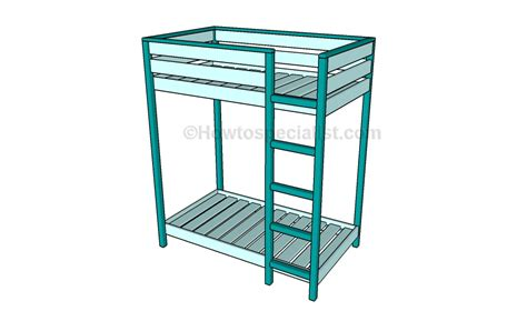 Toddler Bunk Bed Plans Howtospecialist How To Build