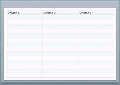 3 column word template flash templates for oracle bi publisher