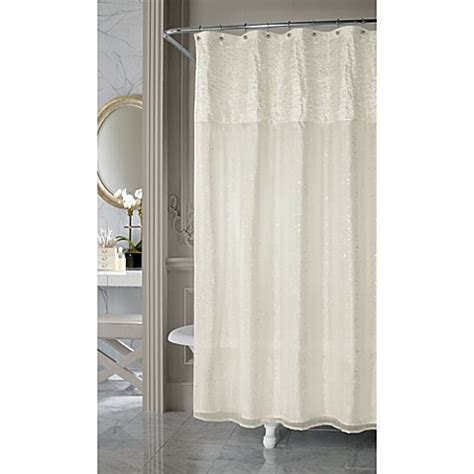nicole miller shower curtains nicole miller sparkle fabric shower curtain bed bath