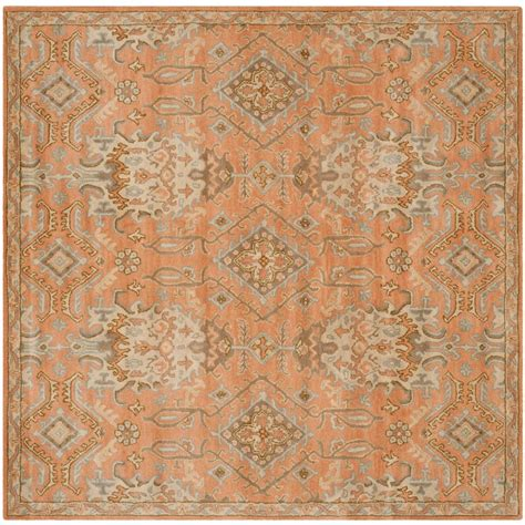 Terracotta Area Rugs Safavieh Wyndham Terracotta 5 Ft X 5 Ft Square Area Rug Wyd203a 5sq The Home Depot