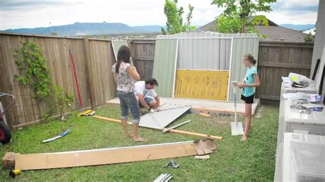 Erecting A Garden Shed by Erecting A Shed