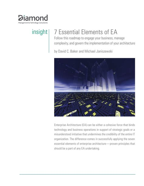 essential elements to include in 7 essential elements of ea