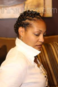 twisted bun hairstyle on american flat twist hairstyle for black women thirstyroots com