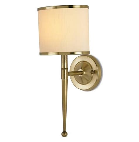 Modern Brass Sconce Primo Regency Antique Brass Modern Wall Sconce