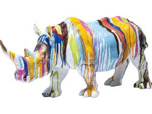 statuette d 233 co rhino color 233 l 55 cm tendance meubles