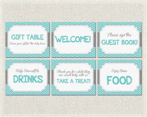 baby shower printable signs welcome gift table sign