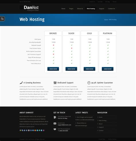 danhost hosting template by danthemes themeforest