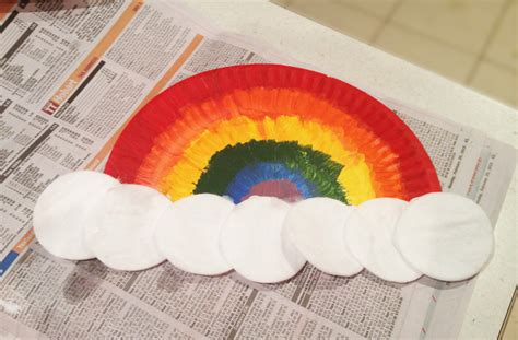 paper plates rainbows craft rainbow themed
