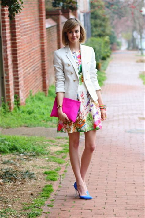 Dress Floral White Blazer gum floral zara dresses white fitted zara blazers quot color craze quot by districtofchic