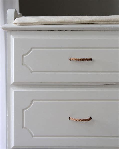 diy braided leather drawer pulls for 1 25 each remodelista