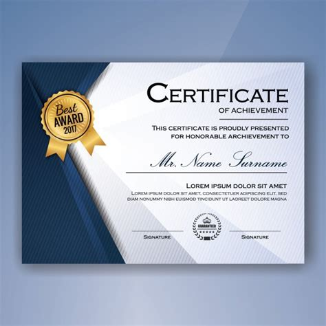 cer remodeling ideas blue and white elegant certificate of achievement template