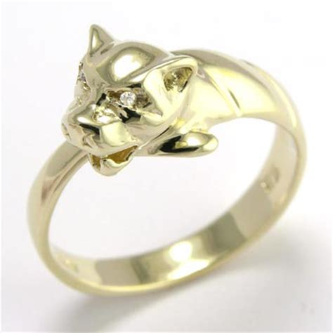14k solid yellow gold cat ring available sizes 4 to