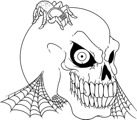 scary halloween skulls coloring pages halloween coloring
