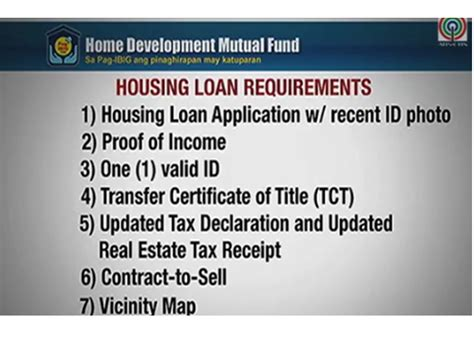 housing loan requirements pag ibig affordable housing loan application available online