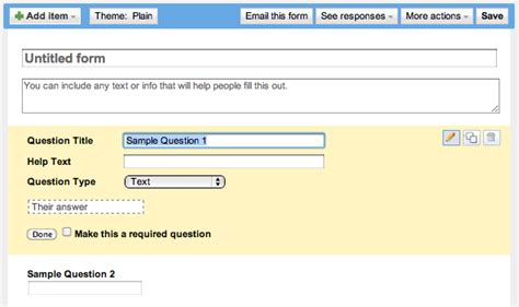 design form google docs how can i create a form in google docs ask dave taylor