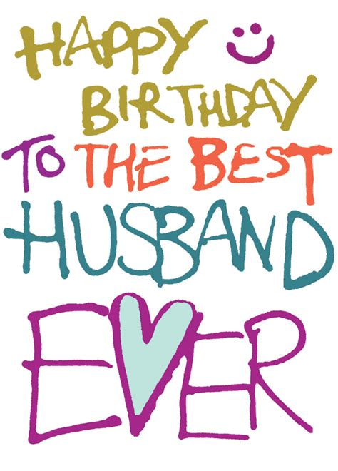 Happy Birthday To Husband And by Happy Birthday Best Husband Cards Galore