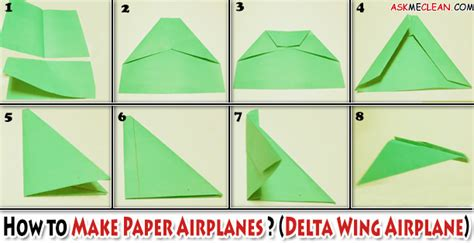 How To Make A Delta Wing Paper Airplane - how to make paper airplanes
