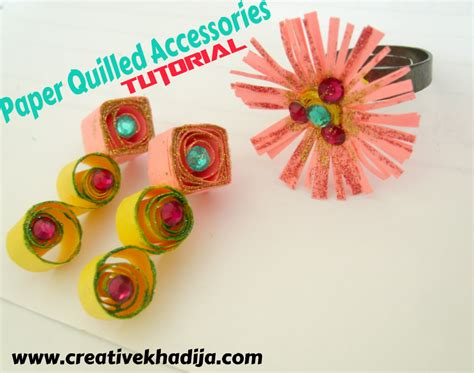Paper Quilling How To Make - paper quilled accessories