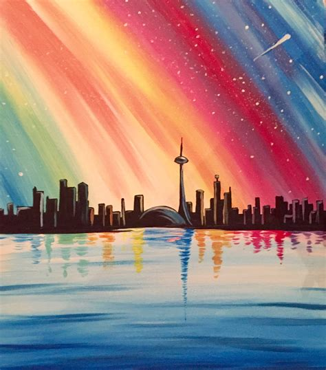 paint nite toronto learn to paint colourful toronto