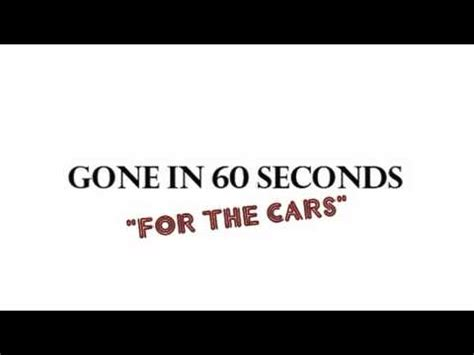 theme music gone in 60 seconds soundtrack masterpieces gone in 60 seconds for the