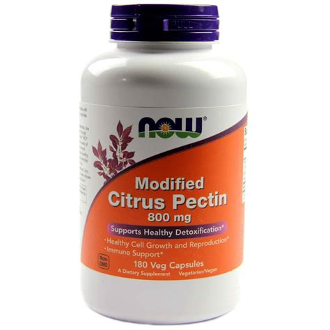 Citrus Pectin For Detox by Now Foods Modified Citrus Pectin 180 Vcapsules