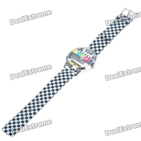 test pattern band brisbane fashion television tv test pattern quartz wrist watch