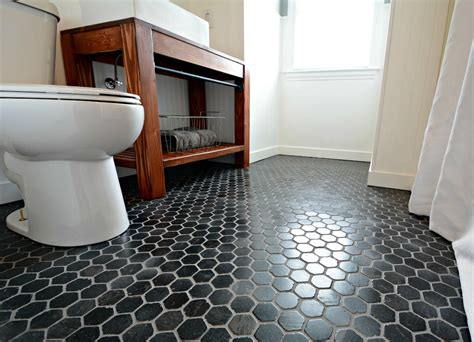 Hexagon Tile Bathroom Floor by Small Bath Remodel Part Dos Decor And The