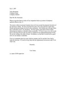 Resignation Letter For Community Resignation Refusal To Relocate Community Ties