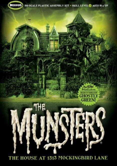 the munsters house the munsters house culttvman ghostly green edition from moebius models