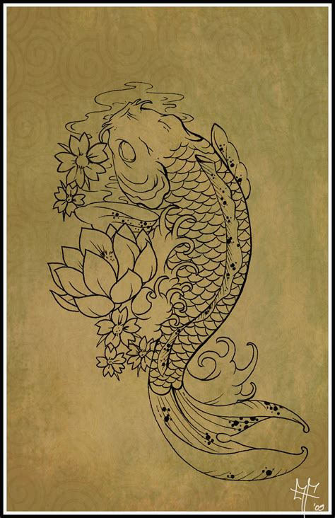 carp fish tattoo designs koi carp tattoo by dragodelbuio beautiful lotus