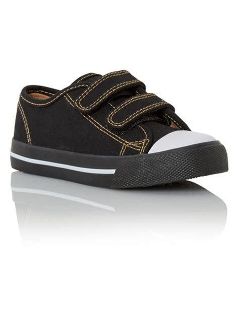 sainsburys shoes all boy s clothing boys black canvas shoes tu clothing