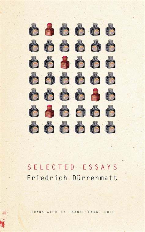 Critical Essays On Durrenmatt by Selected Essays D 252 Rrenmatt Cole