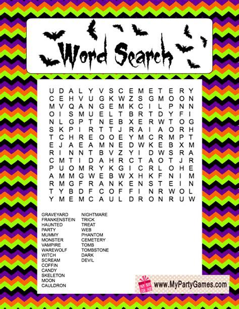 printable word games online free free printable halloween word search game
