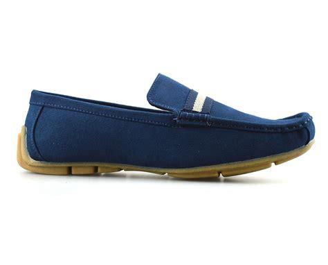 designer loafer shoes mens new leather suede slip on casual mocassin designer