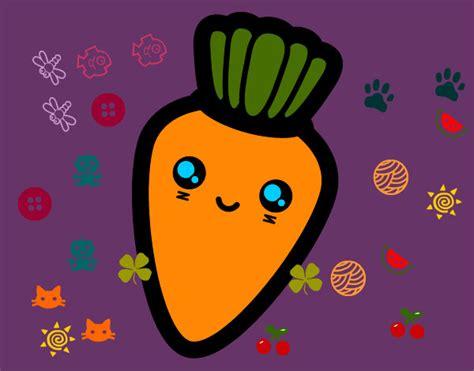 imagenes de zanahorias kawaii dibujos de comidas tiernas imagui