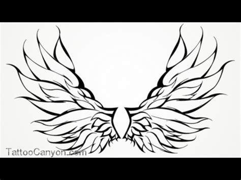 angle tattoo designs angle wings wings tribal outline design
